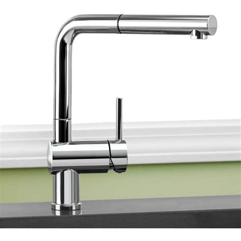 Blanco Kitchen Faucets by Blanco 441197 Linus Satin Nickel Pullout Spray Kitchen