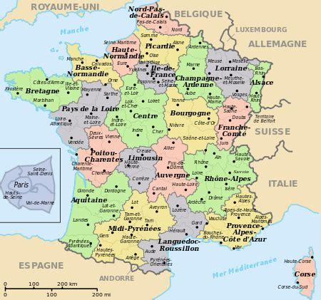 Carte De Avec Régions Et Départements à Imprimer by D 233 Partements R 233 Gions Svg