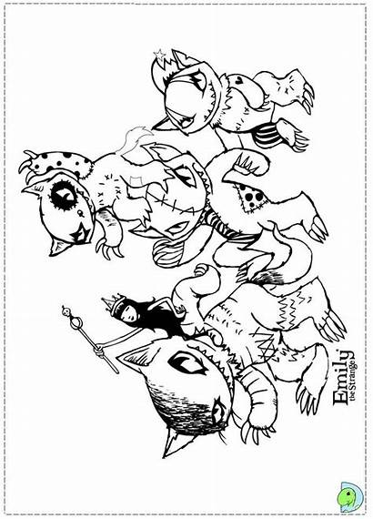 Coloring Pages Strange Emily Weird Colouring Dinokids