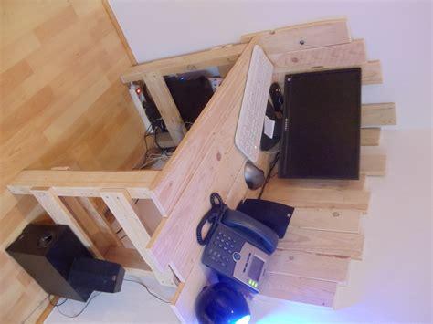 fabriquer bureau en palette meuble david mercereau