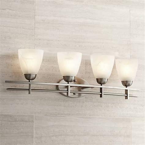 Deco Bathroom Lighting Fixtures by Deco Nickel Collection 33 Quot Wide Bathroom Light Fixture