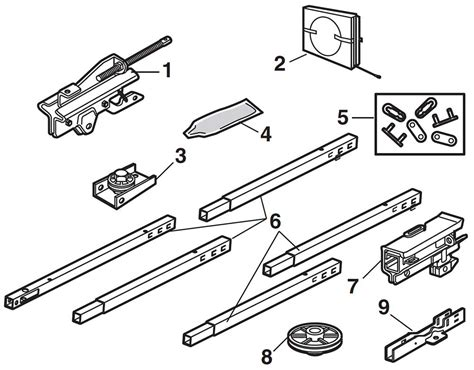 chamberlain garage door parts chamberlain chain drive garage door rail assembly parts