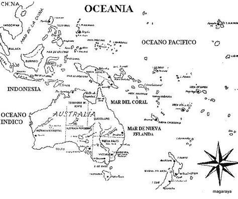 Resultado de imagen para mapa de oceania con nombres y