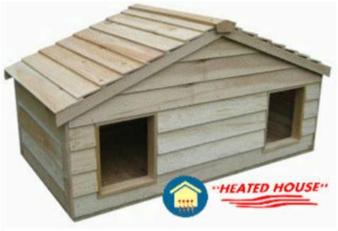 Large Duplex Heated Insulated Cedar Cat House Shelter Ebay