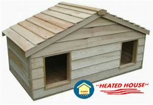 large duplex heated insulated cedar cat house shelter ebay With outdoor heated dog houses for sale
