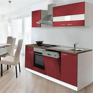 Küchenzeile 220 Cm Geschirrspüler : respekta k chenzeile kb220wr breite 220 cm rot bauhaus ~ Bigdaddyawards.com Haus und Dekorationen