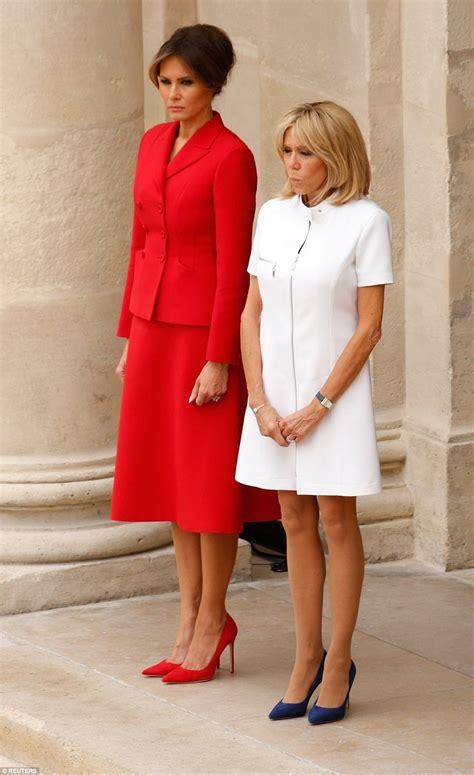 Melania Trump Vs Brigitte Macron Fashion - YouTube