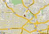 Map of Americas Best Value Inn Los Angeles/Hollywood, Los ...