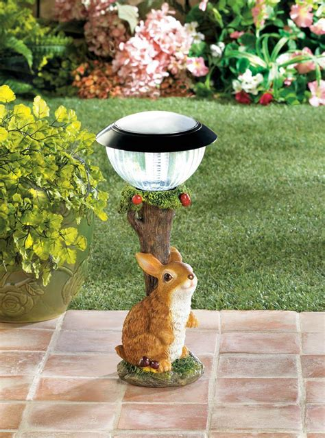 rabbit solar garden path light wholesale at koehler home decor