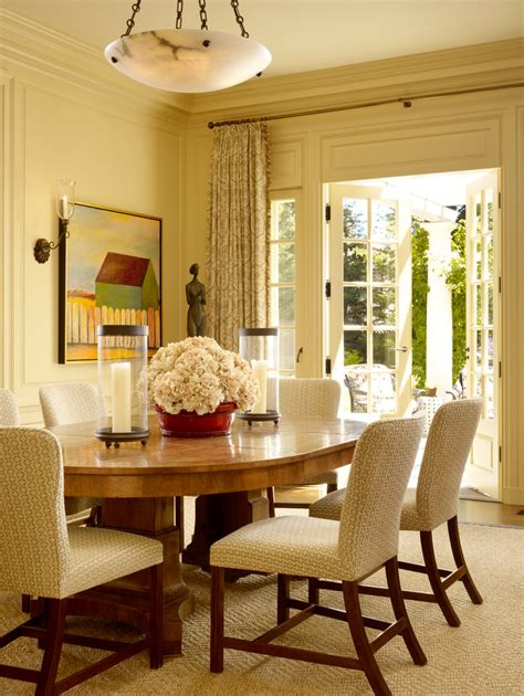 beautiful hurricane candle holdersin dining room