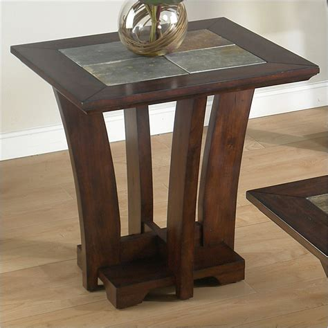 slate top end table object moved