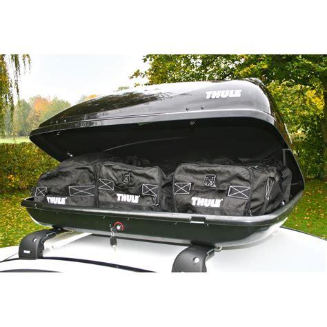 box auto thule thule 100 car roof box 360 litre in gloss black finish