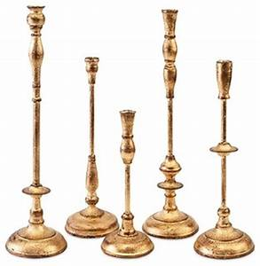 antique gold metal taper candle holder set of 5 With kitchen cabinets lowes with metal taper candle holders