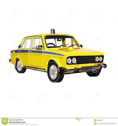 lada da disegno volante della polizia sovietico lada illustrazione