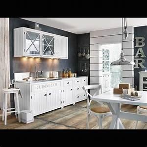 Meuble Haut Cuisine Vitré : meuble haut vitr de cuisine en pin blanc l120 projets essayer pinterest cuisines en ~ Teatrodelosmanantiales.com Idées de Décoration