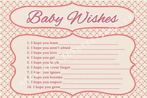 wishes for baby printable template - fun and free baby shower games
