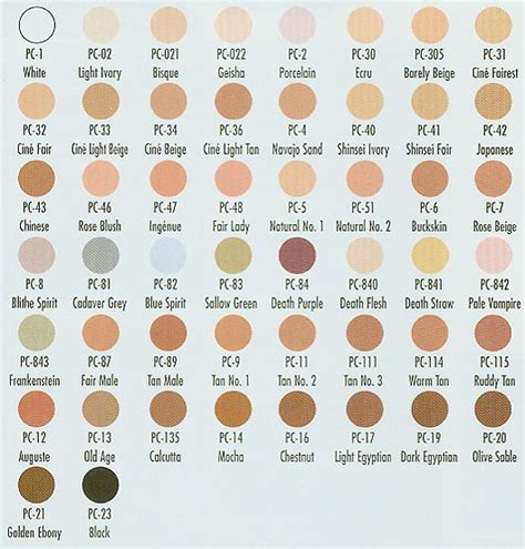 foundation colors ben nye s color cake foundations