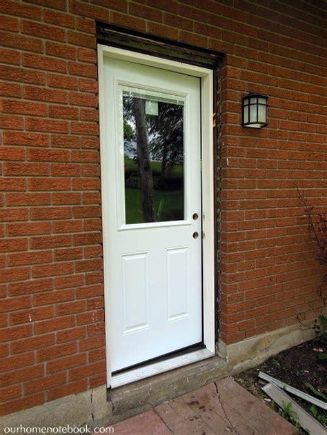 installing exterior door a new back door our home notebook