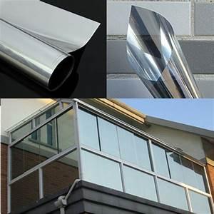 One Way Film : 1pc mirror silver solar reflective window film one way privacy tint 50cm x 1m ebay ~ Frokenaadalensverden.com Haus und Dekorationen
