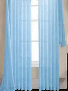 amazon com 84 quot long sheer curtain panel light blue baby
