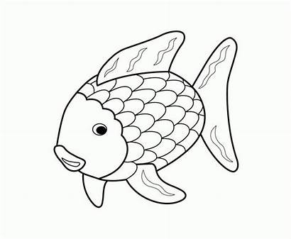 Coloring Pages Animal Fish Rainbow Printable Colouring