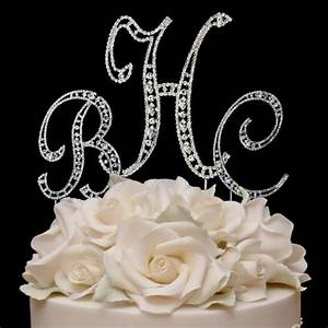 raebella weddings combo silver vintage style swarovski With silver cake topper letters