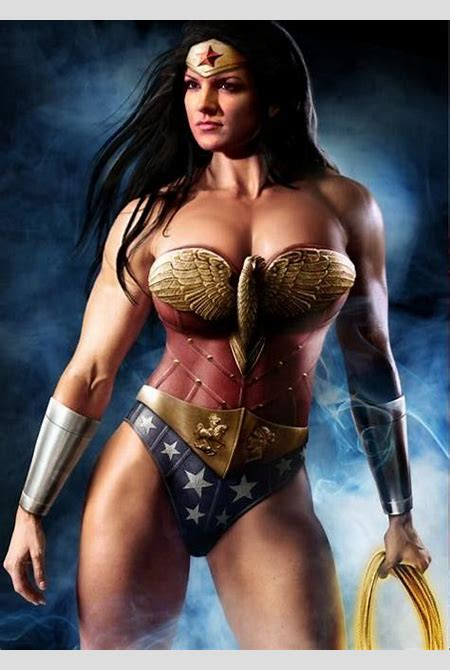Gina Carano Drunk | Gina Carano As Wonder Woman Fan-Made Image; Also Pictured With Henry ...