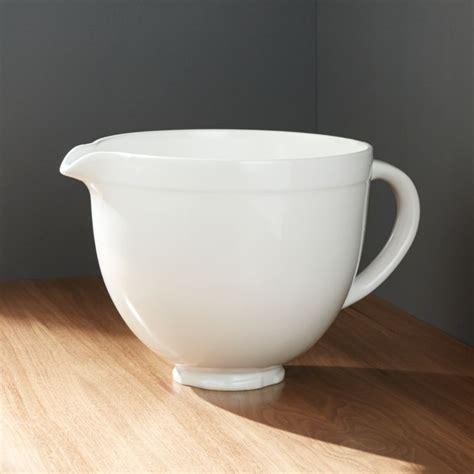 kitchenaid ceramic white bowl reviews crate  barrel