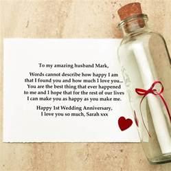 1st wedding anniversary gifts original anniversary gift message in a bottle jpg