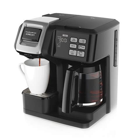Wake up to a hot cup of coffee with fully. Hamilton Beach FlexBrew 2-Way Coffee Maker up