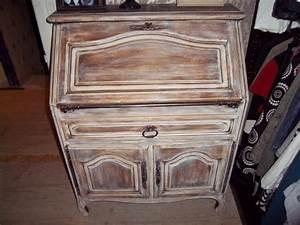 Meuble Secrétaire Ancien : petit meuble revisit photo 4 17 voici un ancien secr taire que j 39 ai ponc et ~ Teatrodelosmanantiales.com Idées de Décoration