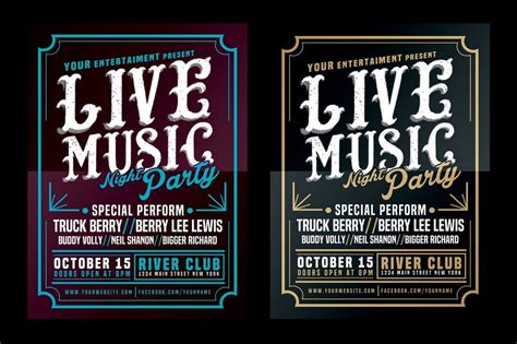 typography template 30 best band flyer templates design shack