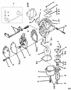 Mercury Marine 8 Hp Carburetor Assembly Parts