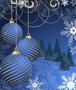 Set of Blue charm Christmas cards vector 04 - Vector Card ...