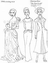 Coloring Pages Flapper Adult 1920s Dress History Books Template 1940s Etsy Dressing Through Sheets Pioneer 1970s Sketch Similar Items Victorian sketch template