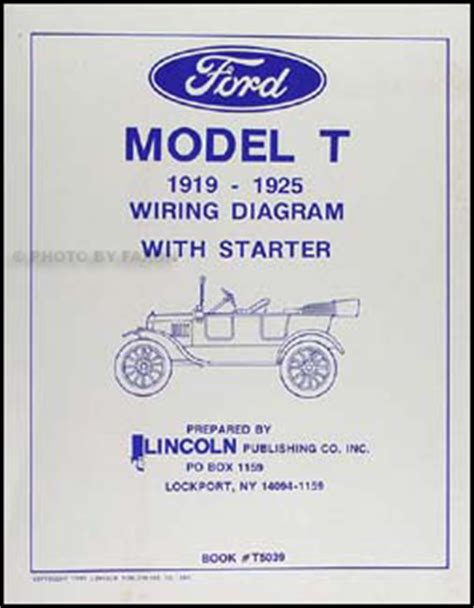 1926 1927 Model T Ford Wiring Diagram by 1919 1925 Ford Model T Wiring Diagram Manual Reprint