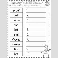 Free Sneezy The Snowman Abc Order & Math Secret Code Activities  January Teaching Activities