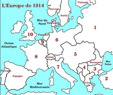 Carte Vierge De L Europe A Compléter by Carte De L Europe A Completer Casamagenta