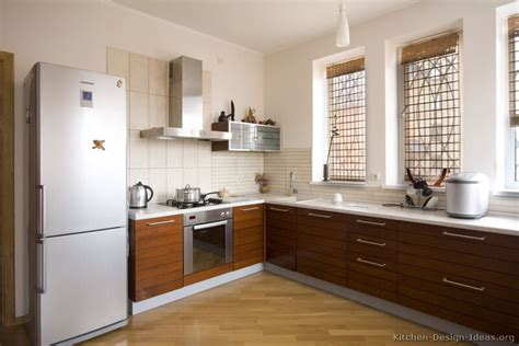 pictures  kitchens modern medium wood kitchen cabinets page