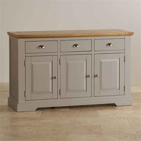 Large Sideboard Oak by St Ives Large Grey Sideboard In Solid Hardwood Brushed