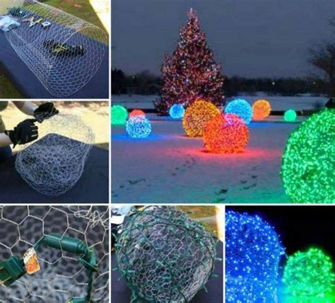 awesome diy christmas light balls   chicken wire