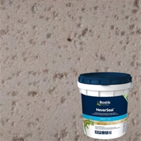 bostik neverseal bostik neverseal misty gray pre mixed commercial grade grout 9lb 100077528 floor and decor