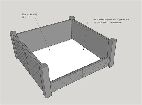 dog bed plans woodworking edge
