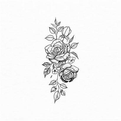 Tattoo Flower Simple Minimalist Tattoos Linework Fineline