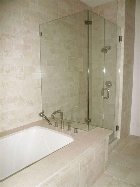 Bathtubs With Shower by Shower Bathtub Shower Combo Crema Marfil Tile Bathroom
