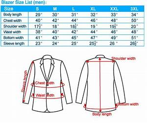Suit Measurements Chart