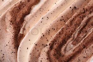 Ice-cream texture: chocolate. Appetizing ice-cream ...