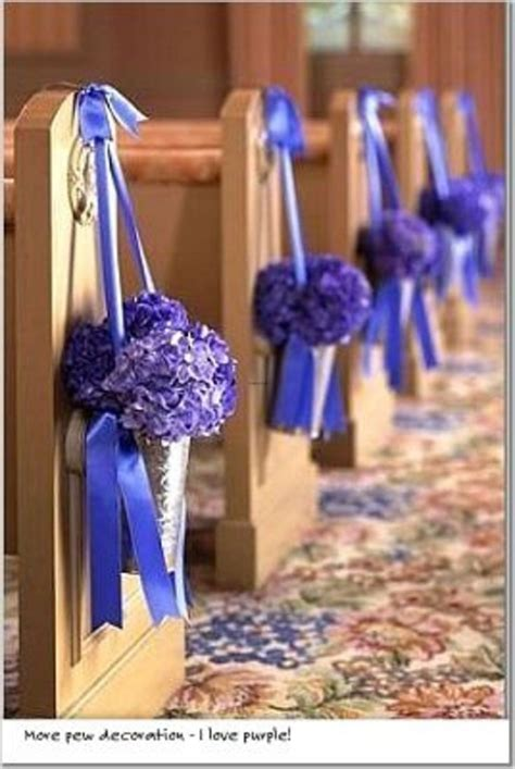 Church And Ceremony Pew Decorations Catholic Wedding