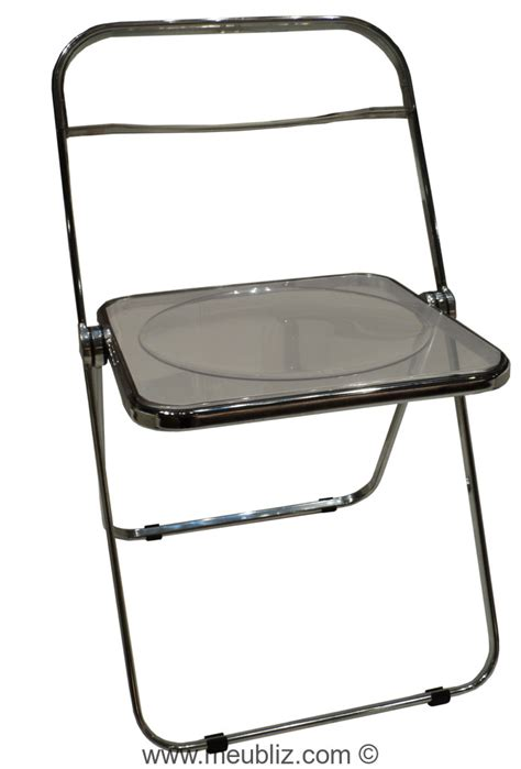 chaise pliante transparente chaise pliante quot plia quot par giancarlo piretti meuble design