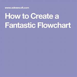 How To Create A Fantastic Flowchart